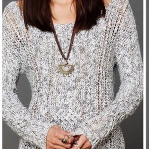 Free People cable knit sweater, Sz S
